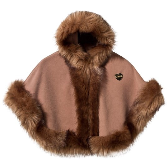 Bandits girl hooded cape in camel - Roo's Online Shop - children's clothes - Mary Jane shoes -
