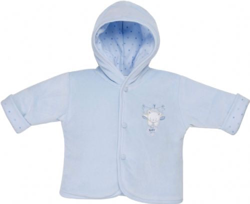 Tiny baby velour coat blue