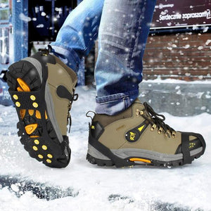 b2dd39b9d23d2a Non-Slip Shoe Cover Ice Snow Grips Over Shoe Boot Traction Cleat Rubber  Spikes Anti
