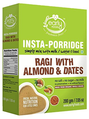 Early Foods Instant Organic Ragi Almond & Date Porridge Mix