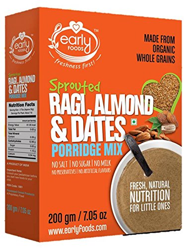 Early Foods Organic Sprouted Ragi Almond & Dates