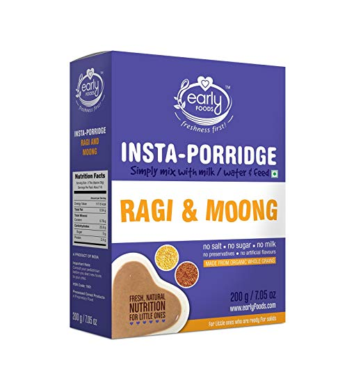 Early Foods Instant Organic Ragi & Moong Porridge Mix