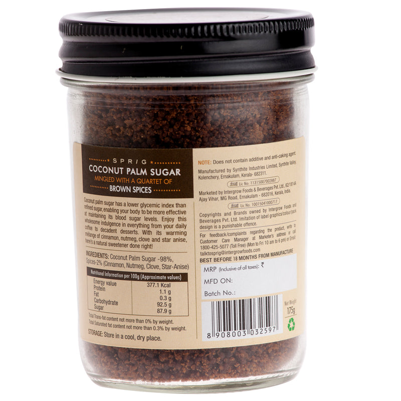 Coconut Sugar Mingled with a Quartet of Brown Spices