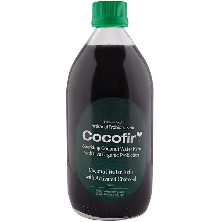 Coconut water kefir with Activated charcoal