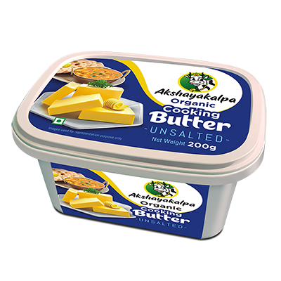 Akshayakalpa Organic Cooking Unsalted Butter