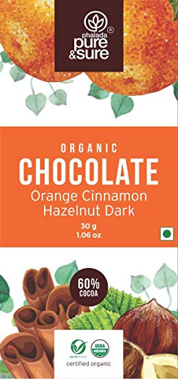 Organic Dark Chocolate with Orange, Cinnamon & Hazelnut