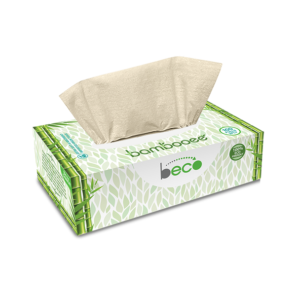 Sustainable Bamboo Facial Tissues - 100 Pieces