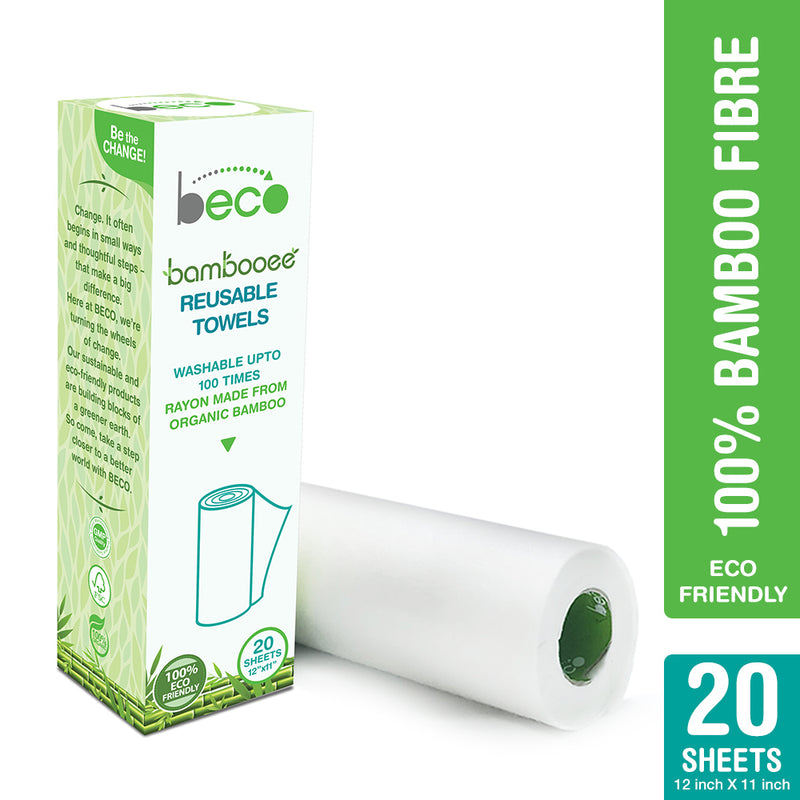 Bambooee Reusable Kitchen Towel Roll - 20 Sheets