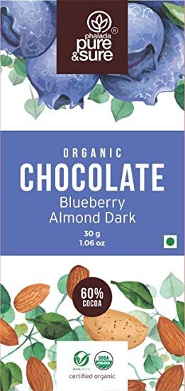 Organic Dark Chocolate with Blueberry & Almond