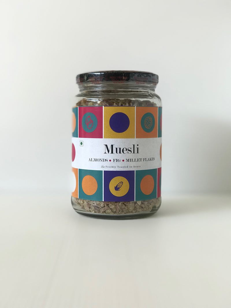 Freshmills Museli With Almonds, Fig & Millet Flakes