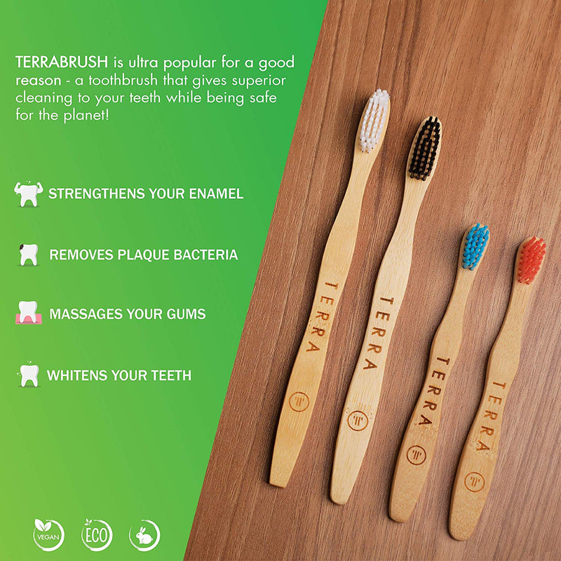 Terra Bamboo Toothbrush Family Pack