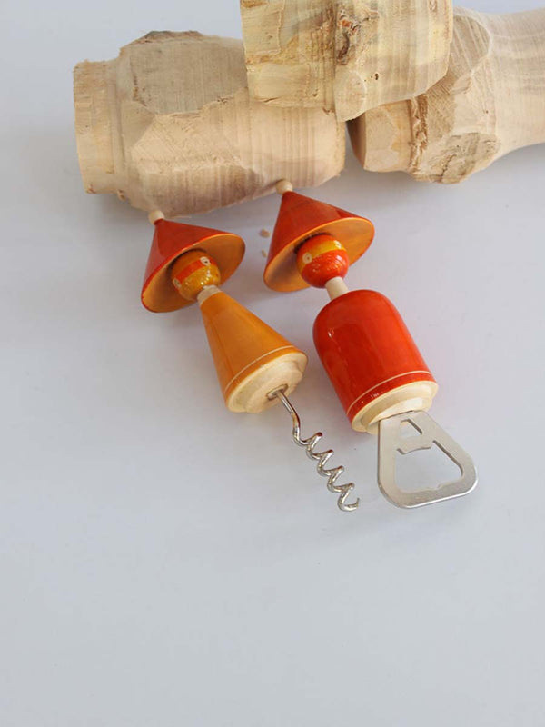 Varnam Craft Collective THE MADHATTERS Bottle and cork opener set