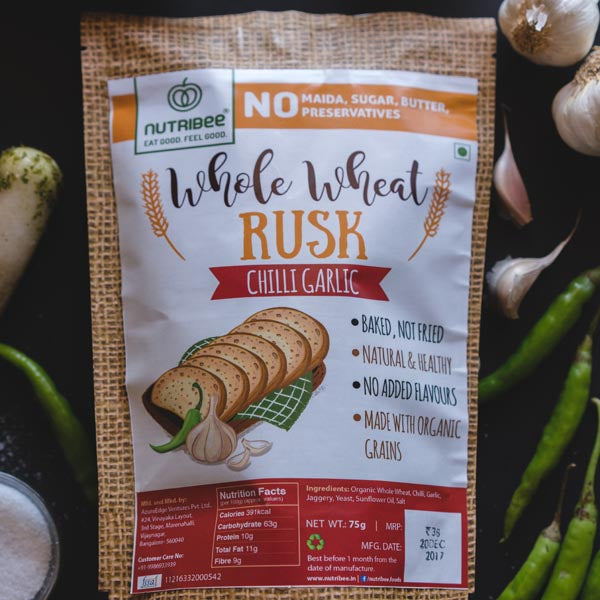 Nutribee Chilli Garlic Wheat Rusk