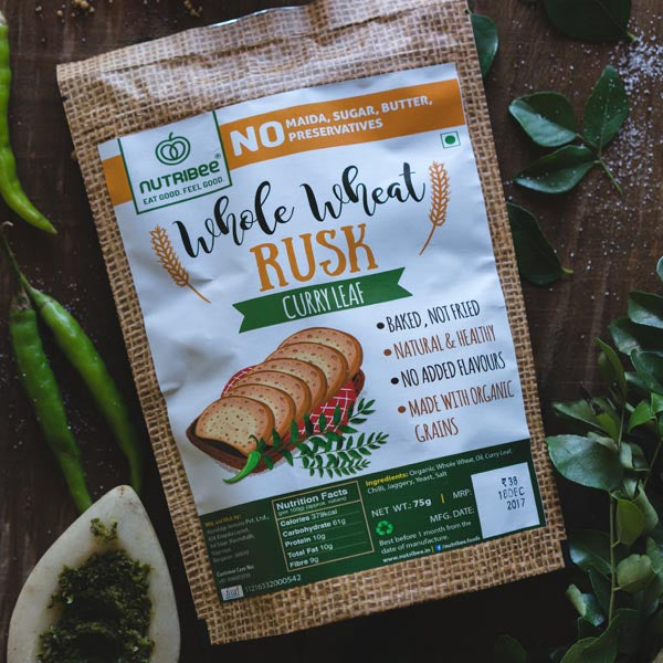 Nutribee Wheat Rusk Curry Leaf
