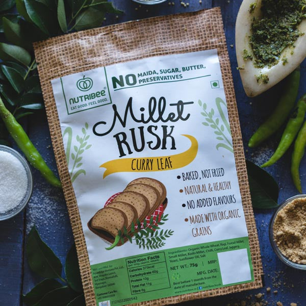 Nutribee Curry Leaf Millet Rusk