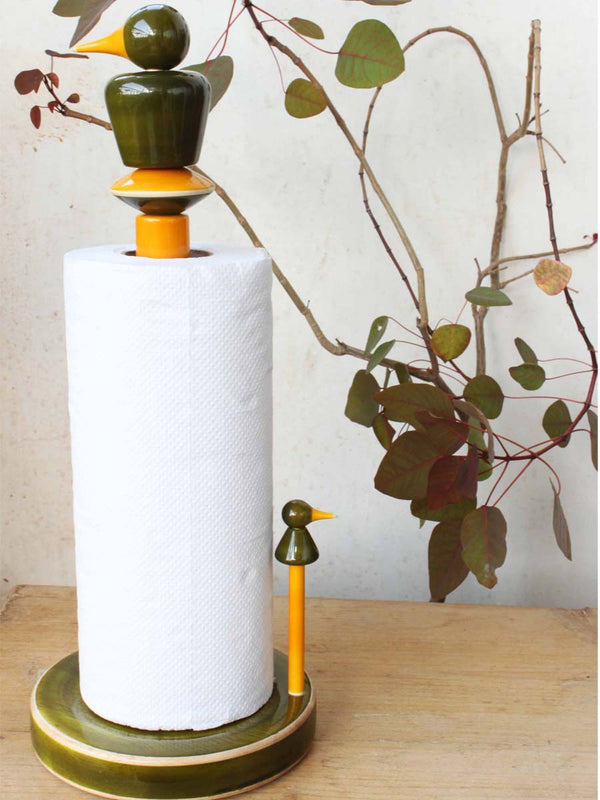 Varnam Craft Collective KURUVI paper-roll dispenser