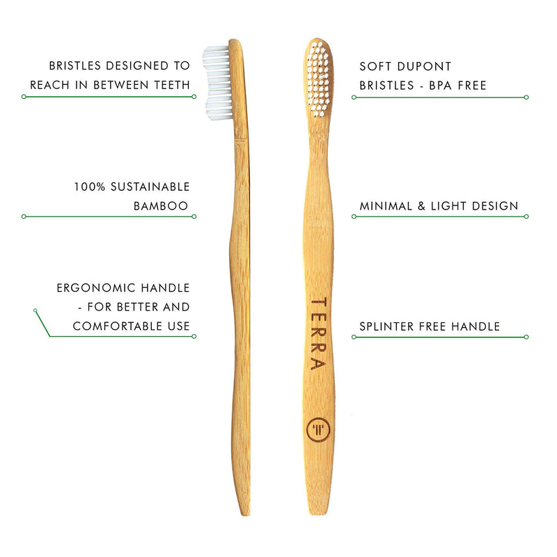 Terra Bamboo Toothbrush White