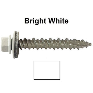 Metal to Wood White 1-1/2 Screws 250 per bag