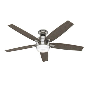 883792 - Hunter Windemere II 54-in Brushed Nickel Indoor Ceiling Fan with Remote (5-Blade)