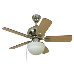 883785 - Harbor Breeze Caratuk River 42-in Brushed Nickel LED Indoor Ceiling Fan (5-Blade)