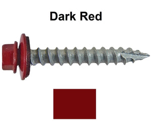 Metal to Wood Dark Red 1-1/2 Screws 250 per bag