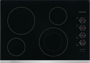 FFEC3025US 30 in. Radiant Electric Cooktop in Stainless Steel with 4 Elements including Quick Boil Element