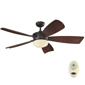 747610 - Harbor Breeze Saratoga 60-in Oil Rubbed Bronze LED Indoor Ceiling Fan with Remote (5-Blade)
