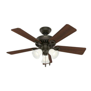 181903 - Hunter Ridgefield 44-in New Bronze LED Indoor Ceiling Fan with Light Kit (5-Blade)