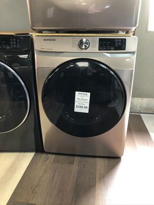DVE45R6100C Samsung - 7.5 CF 10-Cycle Electric Dryer with Steam - Champagne
