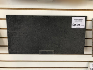 "12""x24"" Weathered Black Porcelain Tile 8pc/16sf"