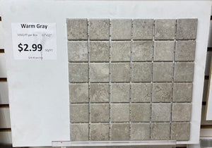 "Warm Gray Ceramic 12""x12"" Mosaic Tile by Daltile 10SF Box"