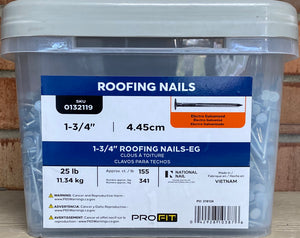 "1-3/4"" Roofing Nail 25lb Pail #0132119"