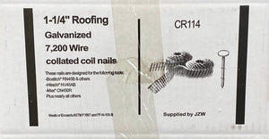 "1-1/4"" Roofing Coil Nails 7.2M per carton #061170"