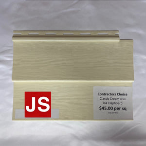 12528 Contractors Choice D4 Classic Cream 2 sq per carton