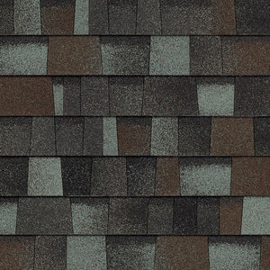 Deep Brown Gray Wrapped Architectural Shingles by the bundle