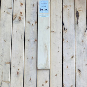 "6"" Untreated 5/4"" Spruce Decking $0.49/lf"