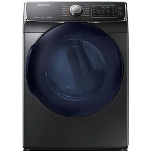 DV45K6500GV - Samsung 7.5-cu ft Reversible Side Swing Door Stackable Steam Cycle Gas Dryer (Black Stainless Steel)
