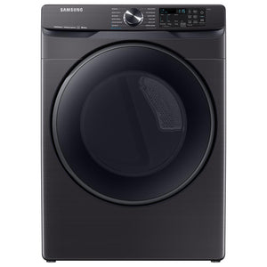 DVG50R8500V/A3 - Samsung - 7.5 Cu. Ft. 12-Cycle Smart Wi-Fi Gas Dryer with Steam - Black stainless steel