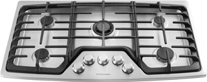EW36GC55PS Electrolux 36 Inch Gas Cooktop with 5 Sealed Burners: Stainless Steel