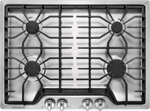 FFGC3026SS Frigidaire 30 Inch Gas Cooktop with 4 Sealed Burners, Cast Iron Grates: Stainless Steel