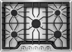 FGGC3047QS Frigidaire Gallery Series 30 Inch Gas Cooktop with LP Conversion Option, Seamless Recessed Burners, Stainless Steel