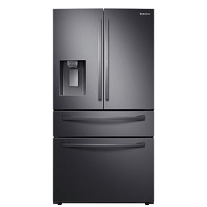 RF28R7351SG Samsung - 27.8 CF 4-Door French Door Refrigerator with Food Showcase - Fingerprint Resistant Black Stainless Steel