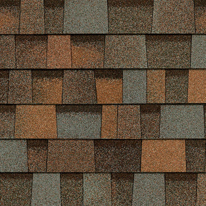 OW Aged Copper (Orange, Green, Brown) Architectural WRAPPED Shingles by the bundle no warranty