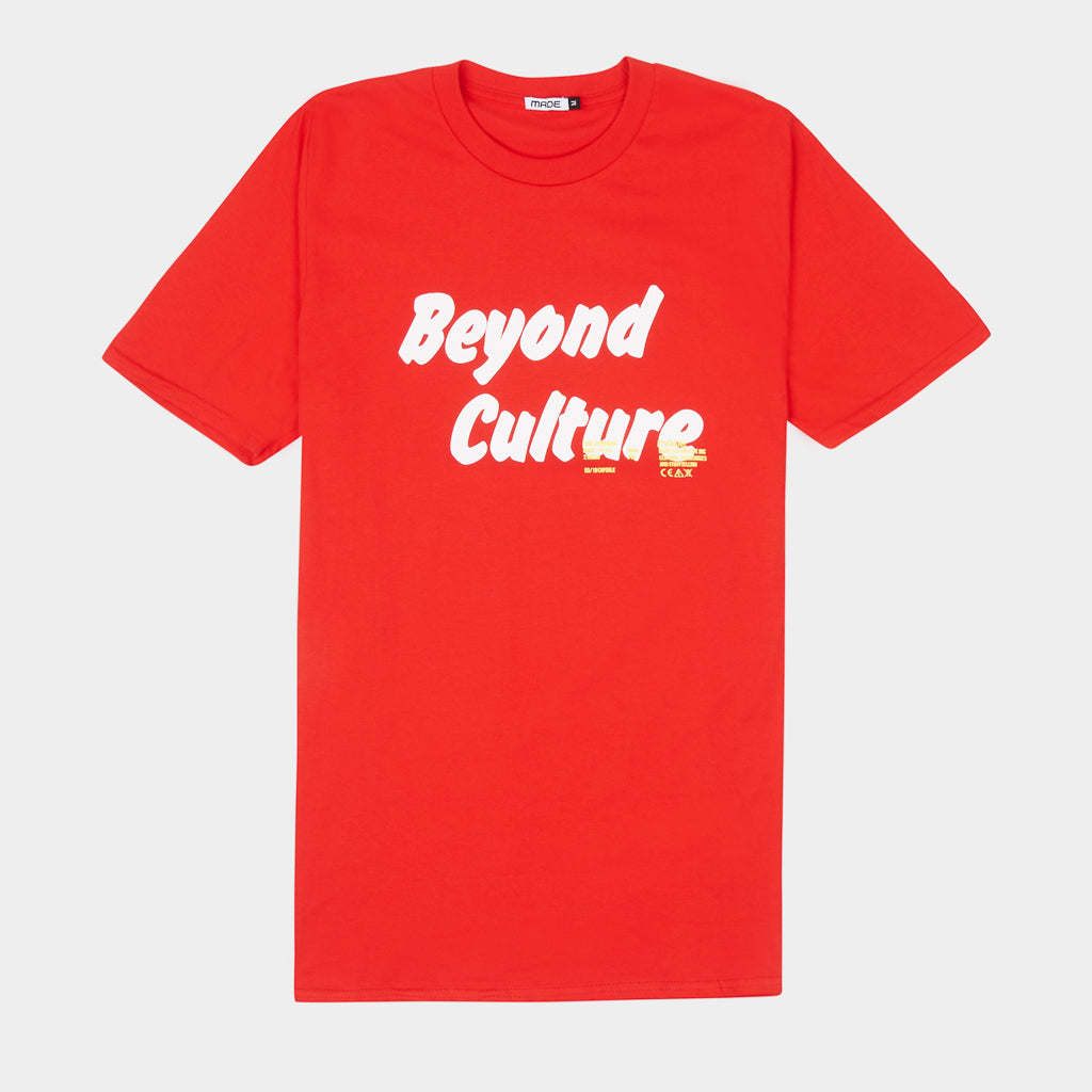 RED BEYOND CULTURE TEE