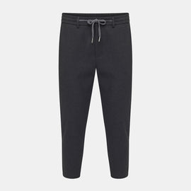 CROPPED WOOLLEN TRACK PANTS