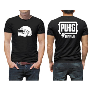 FMstyles PUBG Chicken Dinner Front and Back Unisex Black Tshirt