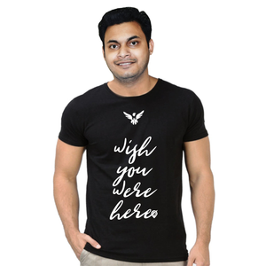 FMstyles Wish you were here Black Unisex Tshirt FMS333