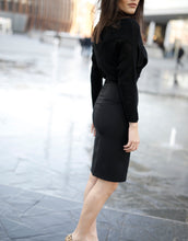 Load image into Gallery viewer, Black High Waisted Pencil Skirt