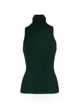 Load image into Gallery viewer, Green Sleeveless Turtleneck Top
