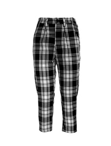 Monochrome Check Suit Trousers